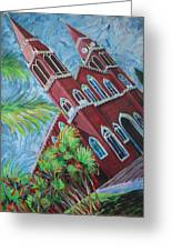 Iglesia Grecia  Costa Rica Greeting Card