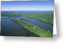 Iguacu River Above Iguacu Falls Brazil Greeting Card