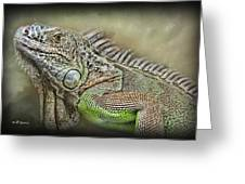 Iguana Named Mack Greeting Card