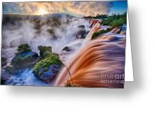Iguazu Sunrise Greeting Card