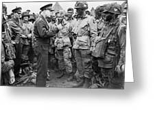 Ike With D-day Paratroopers Greeting Card