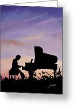 Il Pianista Greeting Card
