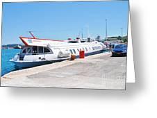 Ilida II Hydrofoil At Kerkira Greeting Card
