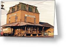 Illinois Feed Mill Greeting Card by Robert Birkenes