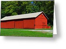 Illinois Red Barn Greeting Card