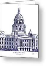 Illinois State Capitol Greeting Card