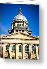 Illinois State Capitol In Springfield Greeting Card
