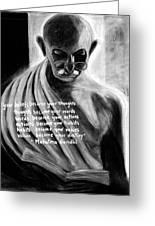 Illuminated Gandhi Greeting Card by Naresh Sukhu