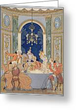 Illustration From 'les Liaisons Dangereuses'  Greeting Card