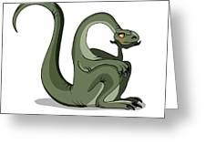 Illustration Of A Brontosaurus Thinking Greeting Card