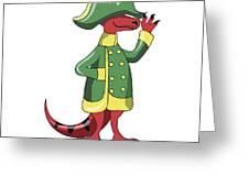 Illustration Of A Tyrannosaur Rex Greeting Card
