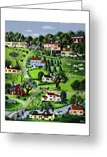 Illustration Of A Village Greeting Card