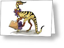 Illustration Of An Iguanodon Greeting Card