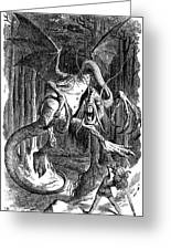Illustration To The Poem Jabberwocky  Greeting Card