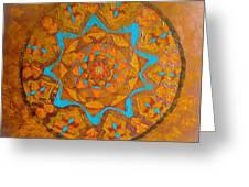 Illustrious Hue Mandala Greeting Card