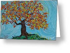 I'm A Happy Tree Greeting Card