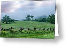 Imaginary Morning On The Blue Ridge I Greeting Card