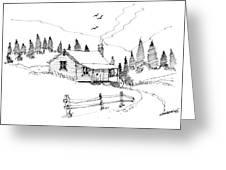 Imagination 1993 - Mountain Cabin Greeting Card