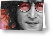 Imagine John Lennon Again Greeting Card
