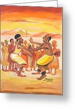 Imbiyino Dance From Rwanda Greeting Card