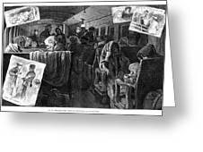 Immigrant Coach Car, 1881 Greeting Card