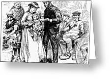 Immigrant Inspection, 1883 Greeting Card