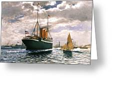 Immigrant Ship, 1893 Greeting Card