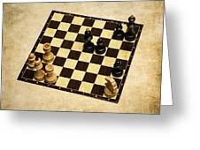 Immortal Chess - Anand Vs Topalov 2005 Greeting Card