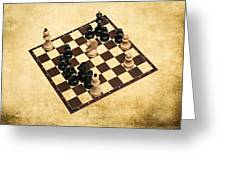 Immortal Chess - Byrne Vs Fischer 1956 Greeting Card