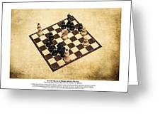 Immortal Chess - Byrne Vs Fischer 1956 - Moves Greeting Card