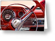 Red Belair With Dice Greeting Card