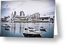 Implosion Of River Front Stadium Greeting Card