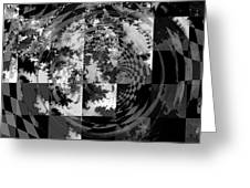 Impossible Reflections B/w Greeting Card