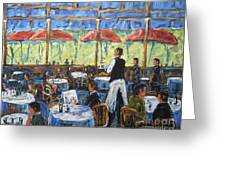 Impresionnist Cafe By Prankearts Greeting Card