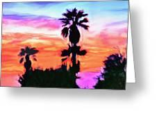 Impression Desert Sunset V2 Greeting Card