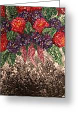 Impression Flowers Greeting Card