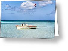 Impression Of Aruba  Greeting Card by George Oze
