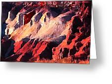 Impression Of Capitol Reef Utah At Sunset Greeting Card