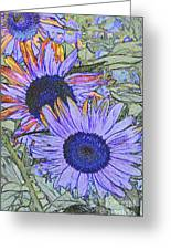 Impressionism Sunflowers Greeting Card