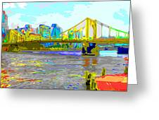 Impressionist Clemente Bridge 2 Greeting Card