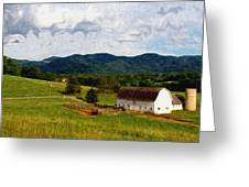 Impressionist Farming Greeting Card