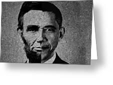 Impressionist Interpretation Of Lincoln Becoming Obama Greeting Card by Doc Braham