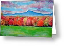 Impressionist New Jersey Autumn Greeting Card