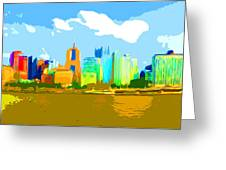Impressionist Pittsburgh From The North Side Greeting Card