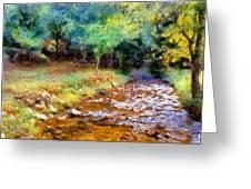 Impressionist Rocky Creek Greeting Card