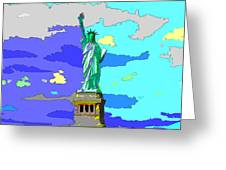 Impressionist Statue Of Liberty Greeting Card