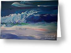 Impressionistic Abstract Wave Greeting Card