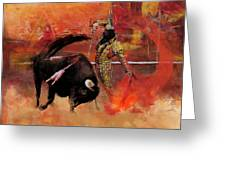 Impressionistic Bullfighting Greeting Card