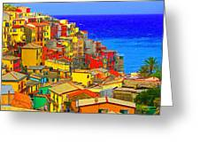 Impressionistic Photo Paint Gs 008 Greeting Card