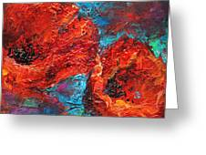 Impressionistic Red Poppies Greeting Card by Svetlana Novikova